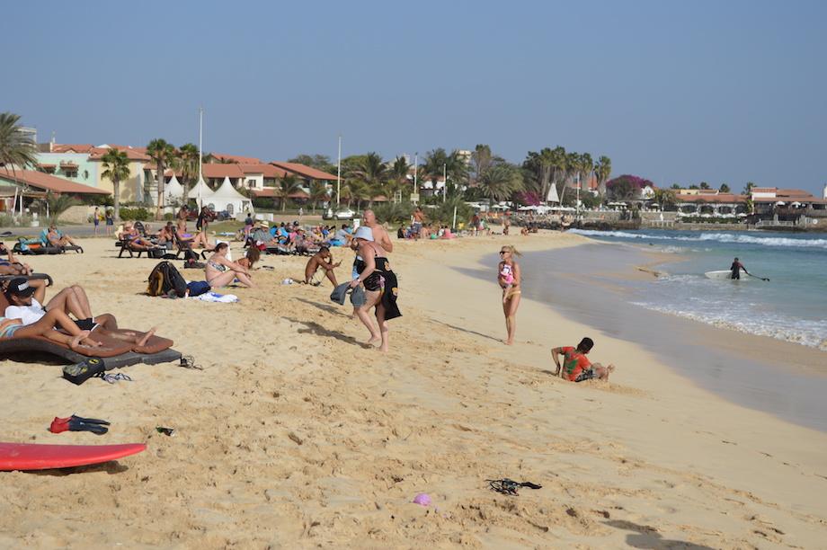tourists sal beach